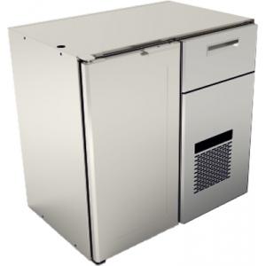 Модуль барный морозильный,  900х595х870мм, без столешницы, 1 дверь глухая, 1 ящик, -15/-18С, нерж.сталь, агрегат справа