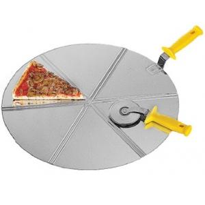 Блюдо D 45см для пиццы с режущими направляющими, 8 кусков, нерж. сталь