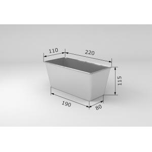 Форма для выпечки хлеба L 22 м w 11см h 11,5см 3 секции без ручек, алюминий