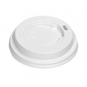 Крышка для стакана 200мл D 80мм пластик белый без носика