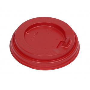 Крышка для стакана 200мл D 80мм пластик красный с носиком