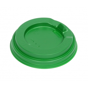 Крышка для стакана 200мл D 80мм пластик зеленый с носиком