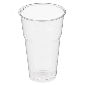 Стакан для пива 500мл пластик прозрачный