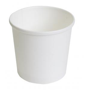 Контейнер с круглым дном 300мл D 90мм белый бумага