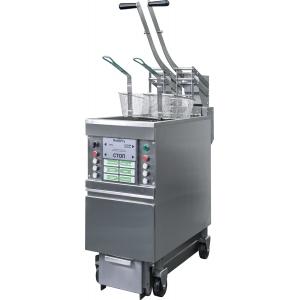 Фритюрница электрическая, 1 ванна 25л, система фильтрации масла, автомат. подъём корзин