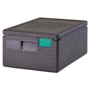 Контейнер изотермический L 60см w 40см h 15см 35,5л с верхней загрузкой, полипропилен черный, пенный наполнитель