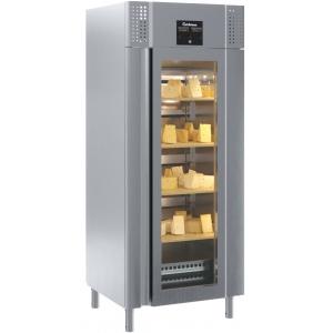Шкаф для созревания сыра, GN2/1,  620л, 1 дверь стекло, 4 полки-решетки, ножки, +2/+18C, дин.охл., нерж.сталь, увлажнение, 4 полки деревянные с напр.