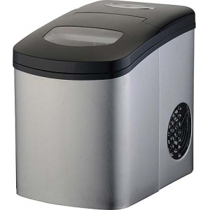 Льдогенератор для кускового льда,  12кг/сут, бункер 0.6кг, возд.охлаждение, корпус нерж.сталь, форма «пальчик», настольный, заливной
