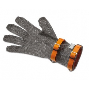 Перчатка кольчужная ХL (размер 10 - ХL оранжевый), манжета 8см