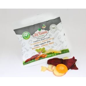 Хрустящие овощные дольки, микс: картофель, морковь, свекла, 25 г., пакет