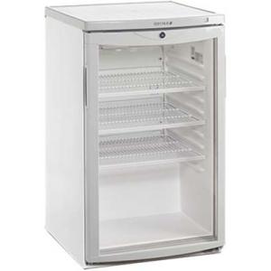 Шкаф холодильный д/напитков (минибар), 109л, 1 дверь стекло, 3 полки, ножки, +2/+10С, стат.охл., белый, R600a