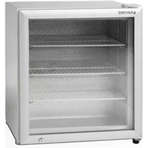 Шкаф морозильный,   90л, 1 дверь стекло, 3 полки, ножки, -12/-24С, стат.охл., белый, обогрев стекла, R290а