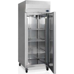 Шкаф морозильный, GN2/1,  650л, 1 дверь глухая правая, 3 полки, колеса, -18/-24С, дин.охл., нерж.сталь, R290а