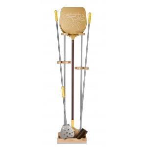Подставка для лопат h 150см, нерж.сталь/дерево