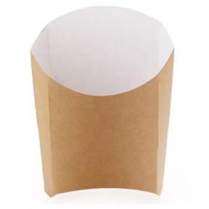 Коробка для картофеля фри 126x50x135мм Крафт бумага
