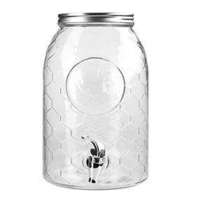 Диспенсер для напитков 6л h 30см с краном, стекло