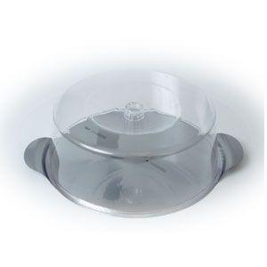 Блюдо для торта D 30см h 10.5см, металл + крышка (баранчик), пластик