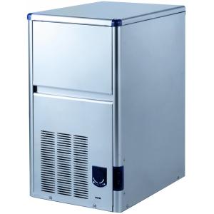 Льдогенератор для кускового льда,  22.5кг/сут, бункер 6.0кг, вод.охлаждение, корпус нерж.сталь, форма «пальчик» 29х35х36мм