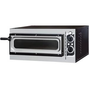 Печь для пиццы электрическая, подовая, 1 камера  410х360х90мм, 1 пицца D320мм, электромех.управление, дверь стекло, под камень