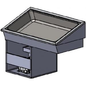 Ванна холодильная встраиваемая, L1.07м, 2 полки, -1/+10С, стат.охл., нерж.сталь
