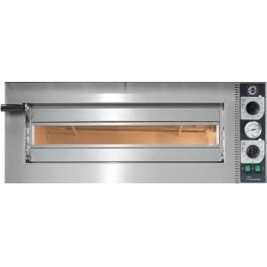 Печь для пиццы электрическая, подовая, 1 камера  720х720х140мм, 4 пиццы D350мм, электромех.управление, дверь стекло, под камень