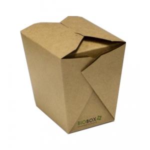 Контейнер универсальный 700мл крафт двухсторонний биоразлагаемый бумага