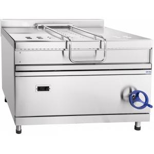 Сковорода газовая опрокидываемая, 150л, ручное опрокидывание, нерж.сталь, серия 900, газ-контроль