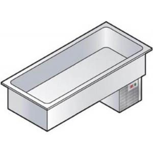 Прилавок раздаточный для холодных блюд, L1.14м, 3GN1/1, встраиваемый, +4/+10С, нерж.сталь