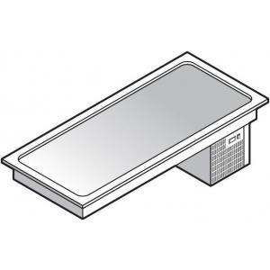 Прилавок раздаточный для холодных блюд, L1.46м, 4GN1/1, встраиваемый, -3/-10С, нерж.сталь