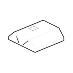 Зонт вытяжной островной, 1200х2200х400мм, лаб.фильтры, коробчатый, нерж.сталь, без подсветки, отверстие, съемный фланец, стойки (б/у (бывший в употреб