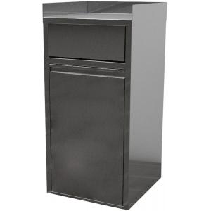 Модуль барный нейтральный для мусорного бака,  560х560х1150мм, 3 борта, закрытый, 1 дверь распашная, ЛДСП, вертушка