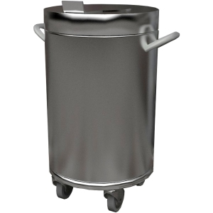 Бак для отходов передвижной,  380х380х700мм,  50л, нерж.сталь 430, крышка