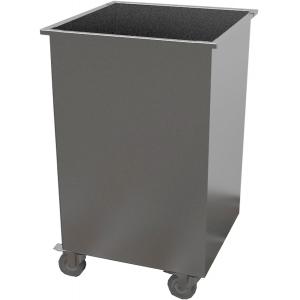 Бак для отходов передвижной,  400х400х700мм,  80л, нерж.сталь 430