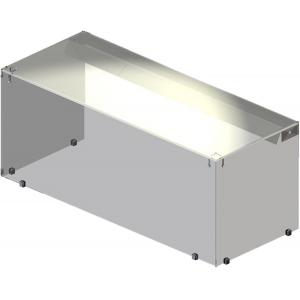 Полка настольная для модулей Light,  800х300х400мм, стеклянный купол-куб, подсветка
