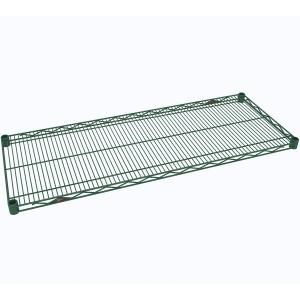 Полка решетчатая для стеллажа, 1370х457х31мм, сталь с покрытием Metroseal3-Microban, для влажных помещений (б/у (бывший в употреблении))