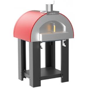 Печь дровяная, 1 камера, под 0.93м2 камень сплошной, купол терракотовый, дверь сталь, подставка