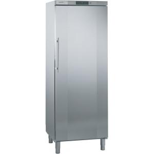 Шкаф морозильный,  547л, 1 дверь глухая, 6 полок, ножки, -14/-28С, дин.охл., нерж.сталь, система No frost