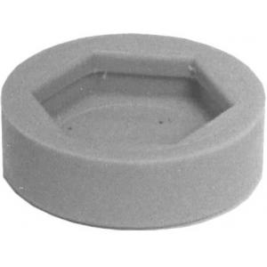 Заглушка для регулируемого болта-опоры стационарной стойки Super Erecta, полимер серый