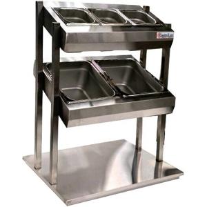 Диспенсер для столовых приборов, хлеба и подносов, L0.60м, 2GN1/1+3GN1/6, встраиваемый