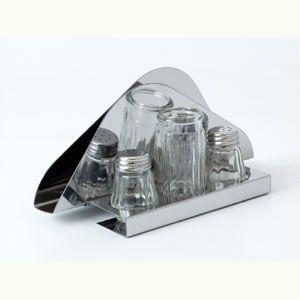 Набор для специй (4 предмета) на подставке (соль, перец, подставка д