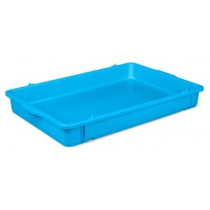Лоток под тесто для пиццы L 65см w 43см h 8см штабелируемый, полипропилен голубой
