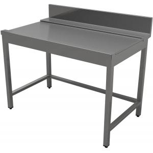 Стол входной-выходной для машин посудомоечных, L0.40м, 1 борт, правый, нерж.сталь 430, сварной, обвязка с 3-х сторон