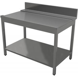 Стол входной-выходной для машин посудомоечных, L0.40м, 1 борт, правый, нерж.сталь 430, сварной, 1 полка сплошная