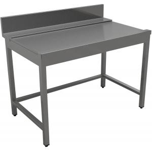 Стол входной-выходной для машин посудомоечных, L0.60м, 1 борт, левый, нерж.сталь 430, сварной, обвязка с 3-х сторон
