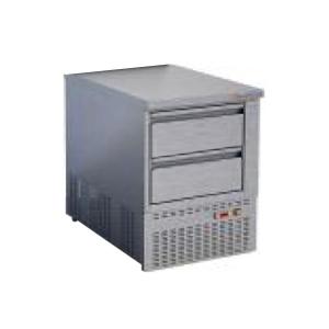 Стол морозильный, GN1/1, L0.60м, без борта, 2 ящика, ножки, -8/-16С, нерж.сталь, дин.охл., агрегат нижний