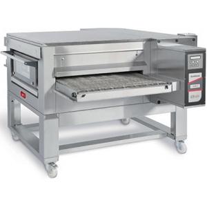Печь для пиццы электрическая, конвейерная, 1 камера 800х1200х100мм, электронное управление, нерж.сталь, подставка передвижная
