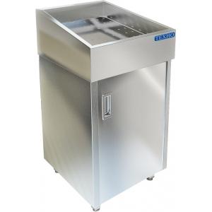 Витрина нейтральная напольная, горизонтальная, для выкладки соков на льду, L0.60м, нерж.сталь, 1 дверь правая, без агрегата