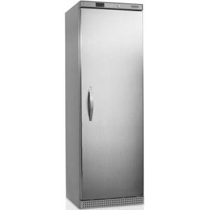 Шкаф морозильный,  400л, 1 дверь глухая, 6 полок, ножки+ролики, -10/-24С, стат.охл., нерж.сталь, R600a