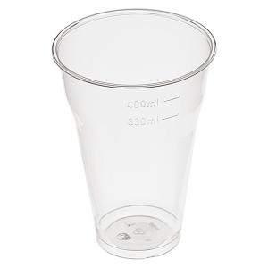Стакан для пива 330-400мл пластик прозрачный