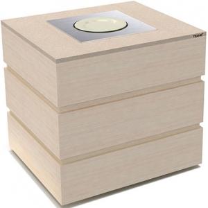 Диспенсер для тарелок подогреваемый, L0.97м, 1 цилиндр 45шт., передвижной, цвет дуб беленый
